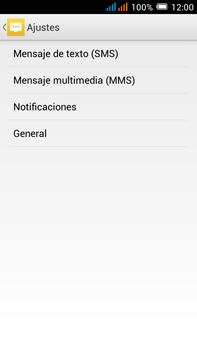 Alcatel Pop C9 - Mensajería - Configurar el equipo para mensajes de texto - Paso 6