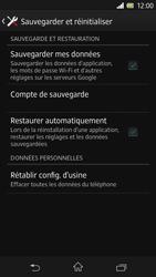 Sony Xpéria Z - Aller plus loin - Restaurer les paramètres d'usines - Étape 5