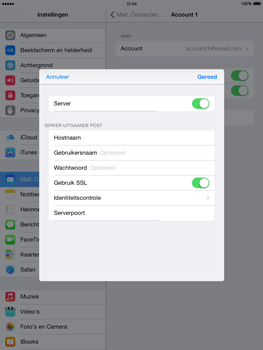 Apple The New iPad iOS 8 - E-mail - Account instellen (IMAP zonder SMTP-verificatie) - Stap 19