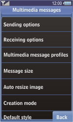 Samsung S8500 Wave - MMS - Manual configuration - Step 15