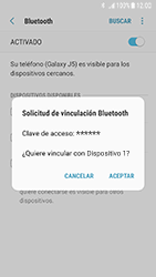 Samsung Galaxy J5 (2017) - Bluetooth - Conectar dispositivos a través de Bluetooth - Paso 8