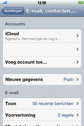 Apple iPhone 4S met iOS 5 (Model A1387) - E-mail - Handmatig instellen - Stap 5