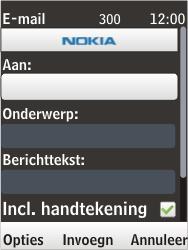 Nokia 6303i classic - E-mail - Hoe te versturen - Stap 8
