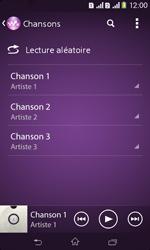 Sony Xpéria E1 Dual - Photos, vidéos, musique - Ecouter de la musique - Étape 5