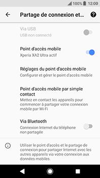 Sony Xperia XA2 Ultra - Internet et connexion - Partager votre connexion en Wi-Fi - Étape 13