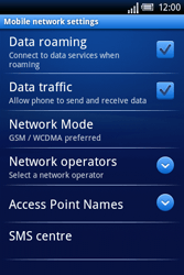 Sony Ericsson Xperia X8 - Internet - Enable or disable - Step 6