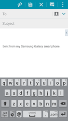 Samsung G850F Galaxy Alpha - E-mail - Sending emails - Step 5