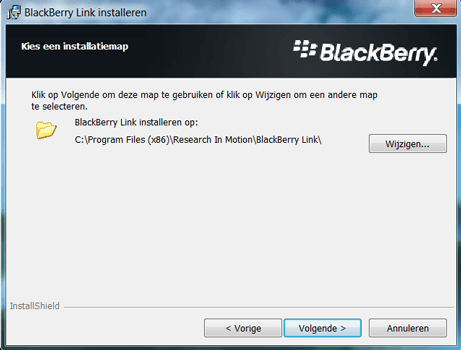 BlackBerry Q5 - Software - Download en installeer PC synchronisatie software - Stap 7