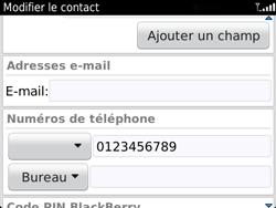 BlackBerry 9720 - Contact, Appels, SMS/MMS - Ajouter un contact - Étape 11