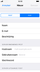 Apple iphone-5s-ios-12 - E-mail - Account instellen (POP3 zonder SMTP-verificatie) - Stap 11