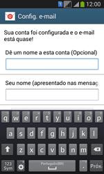 Samsung SM-G3502T Galaxy Core Plus Duo TV - Email - Como configurar seu celular para receber e enviar e-mails - Etapa 17