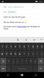 Microsoft Lumia 550 - E-mail - E-mail versturen - Stap 9