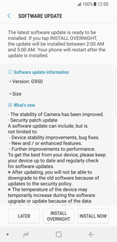 Samsung Galaxy S8 - Android Oreo - Device - Software update - Step 8