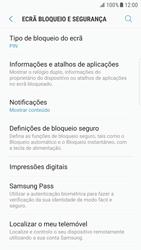 Samsung Galaxy S6 Edge - Android Nougat - Segurança - Como ativar o código de bloqueio do ecrã -  12