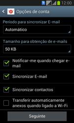 Samsung Galaxy Fresh Duos - Email - Adicionar conta de email -  8