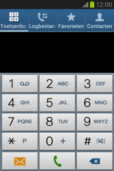 Samsung S6790 Galaxy Fame Lite - Voicemail - handmatig instellen - Stap 5