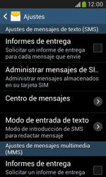 Samsung S7580 Galaxy Trend Plus - Mensajería - Configurar el equipo para mensajes de texto - Paso 8