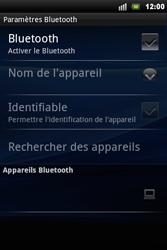 Sony Ericsson Xperia Mini Pro - Bluetooth - connexion Bluetooth - Étape 8