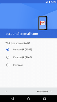 Huawei Google Nexus 6P - E-mail - Account instellen (POP3 met SMTP-verificatie) - Stap 12