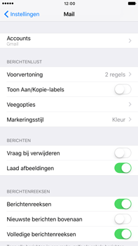 Apple Apple iPhone 6s Plus iOS 10 - E-mail - Handmatig instellen (gmail) - Stap 9