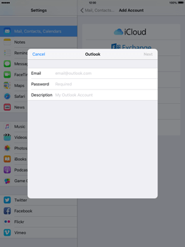 Apple iPad mini 4 - Email - 032c. Email wizard - Outlook - Step 6