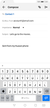 Huawei Mate 20 Pro - Email - Sending an email message - Step 8