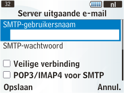 Samsung S3350 Chat 335 - E-mail - Handmatig instellen - Stap 20