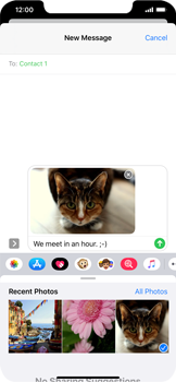 Apple iPhone XS Max - iOS 13 - MMS - Sending a picture message - Step 14