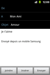 Samsung S7500 Galaxy Ace Plus - E-mail - envoyer un e-mail - Étape 9