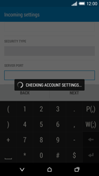 HTC Desire 816 - Email - Manual configuration POP3 with SMTP verification - Step 12