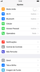 Apple iPhone iOS 11 - Wi-Fi - Como configurar uma rede wi fi - Etapa 3
