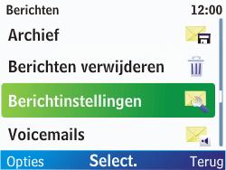 Nokia C3-00 - SMS - handmatig instellen - Stap 5