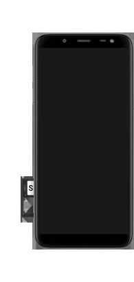 Samsung Galaxy J6 - Premiers pas - Insérer la carte SIM - Étape 9