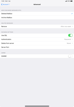 Apple iPad Pro 11 (2018) - Email - Manual configuration POP3 with SMTP verification - Step 22