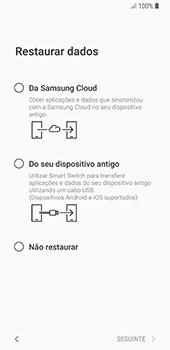 Samsung Galaxy S8 - Android Oreo - Primeiros passos - Como ligar o telemóvel pela primeira vez -  20
