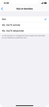 Apple iPhone X - iOS 13 - Réseau - activer 4G - Étape 6