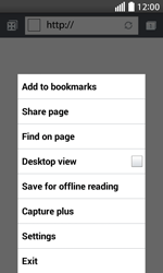 LG L70 - Internet - Manual configuration - Step 21