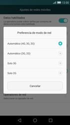 Huawei Ascend G7 - Red - Seleccionar el tipo de red - Paso 7