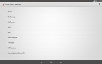 Sony Xperia Tablet Z2 (SGP521) - MMS - handmatig instellen - Stap 11