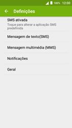 Alcatel Pop 3 - SMS - Como configurar o centro de mensagens -  6