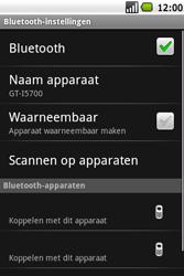 Samsung I5700 Galaxy Spica - Bluetooth - headset, carkit verbinding - Stap 7
