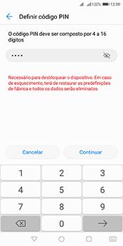 Huawei Y6 (2018) - Segurança - Como ativar o código de bloqueio do ecrã -  8