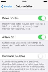 Apple iPhone 4S iOS 7 - Internet - Activar o desactivar la conexión de datos - Paso 4