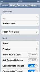 Apple iPhone 5 - Email - Manual configuration - Step 13
