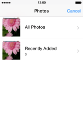 Apple iPhone 4s iOS 8 - Mms - Sending a picture message - Step 9