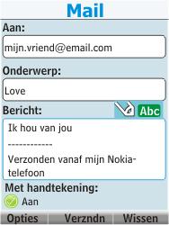 Nokia 206 Dual Sim - E-mail - Hoe te versturen - Stap 13