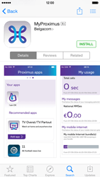 Apple iPhone 6 iOS 8 - Applications - MyProximus - Step 7