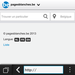 BlackBerry Q5 - Internet - Navigation sur internet - Étape 11