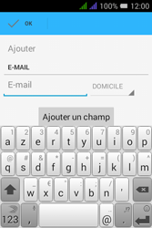 Alcatel Pixi 3 Dual Sim - Contact, Appels, SMS/MMS - Ajouter un contact - Étape 12