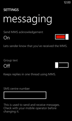 Nokia Lumia 720 - SMS - Manual configuration - Step 8